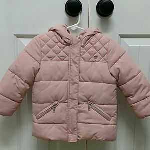 Zara girl quilt puffer coat